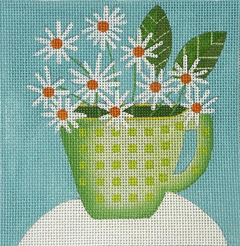 Daisy Cup (C&C) Painted Canvas Melissa Shirley Designs