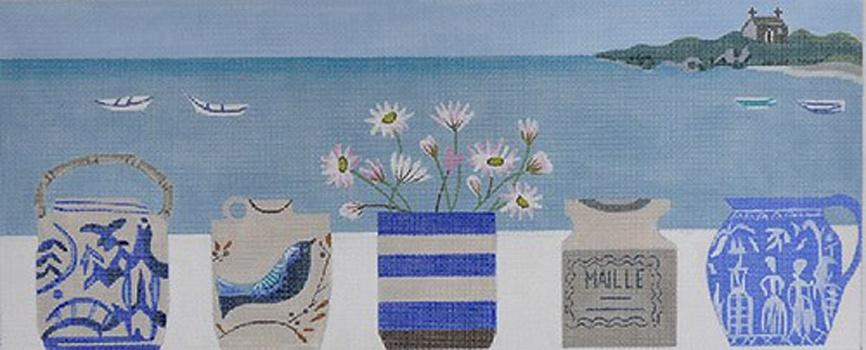 Daisy Pot on 13 Painted Canvas Melissa Shirley Designs