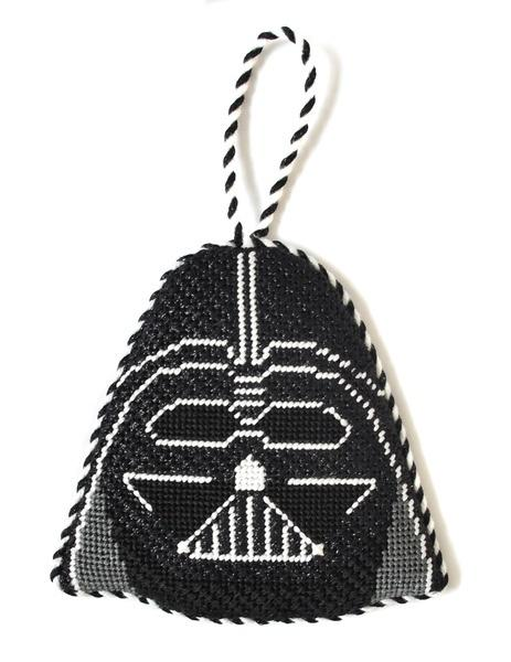 Darth Vader Ornament Painted Canvas Kathy Schenkel Designs