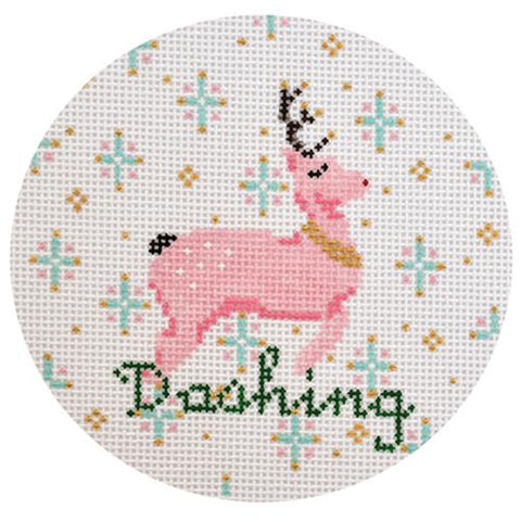 Dashing Ornament Painted Canvas The Plum Stitchery