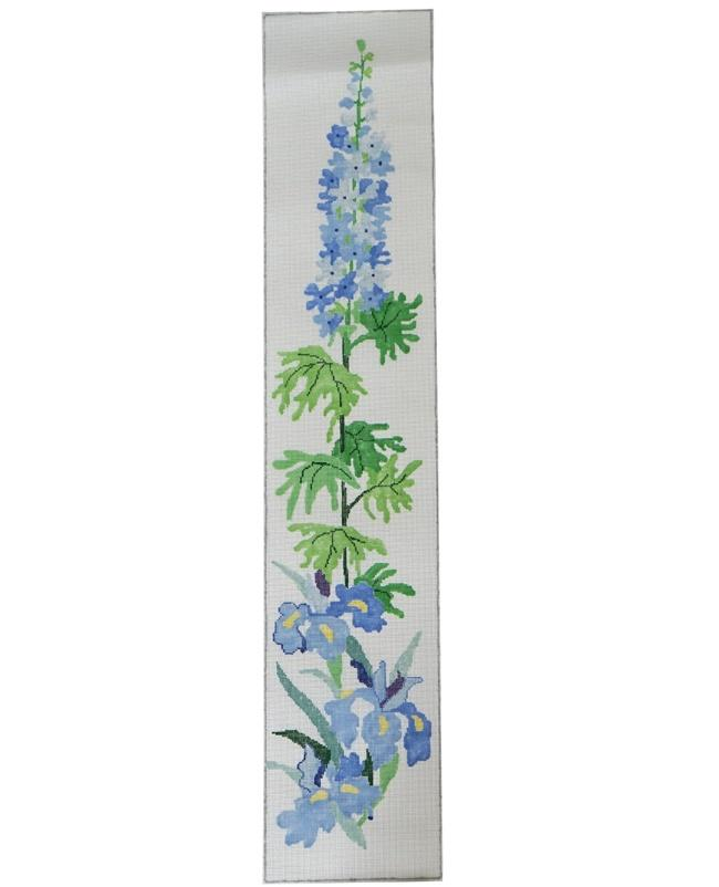 Delphinium Bell Pull Painted Canvas Jean Smith