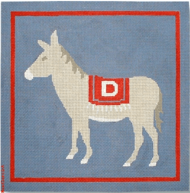 Democrat Donkey Painted Canvas CBK Needlepoint Collections