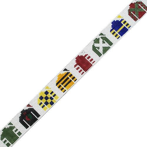 Derby Jockey Silks Belt Painted Canvas The Meredith Collection