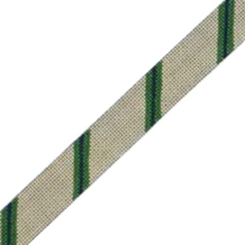 Diagonal Stripe Belt - Khaki/Green/Navy on 13 Painted Canvas The Meredith Collection