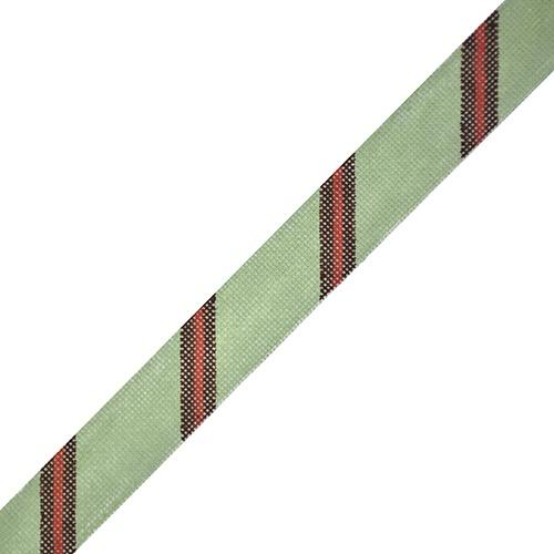 Diagonal Stripe Belt - Sage/Brown/Red on 18 Painted Canvas The Meredith Collection