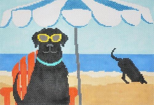 Dig in the Beach Painted Canvas CBK Needlepoint Collections