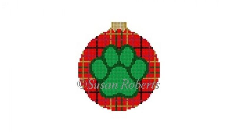 Dog Paw Round on 18 Painted Canvas Susan Roberts Needlepoint Designs Inc.