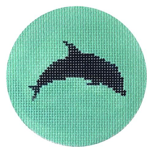Dolphin on Seafoam Painted Canvas Kristine Kingston