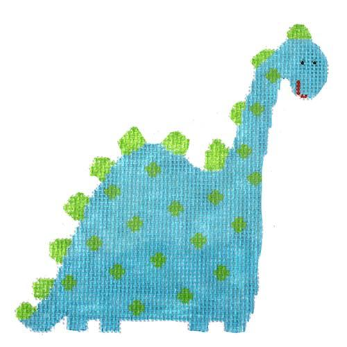 Dotted Dinosaur Painted Canvas The Princess & Me