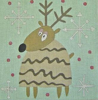 Doug (Reindeer) Painted Canvas Ewe & Eye