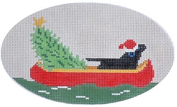 Downstream Lab Painted Canvas CBK Needlepoint Collections