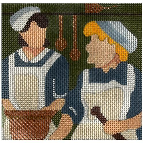 Downton - Mrs. Patmore and Daisy Painted Canvas Melissa Prince Designs