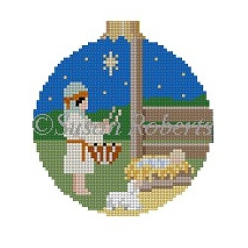 Drummer Boy Ornament Painted Canvas Susan Roberts Needlepoint Designs Inc.