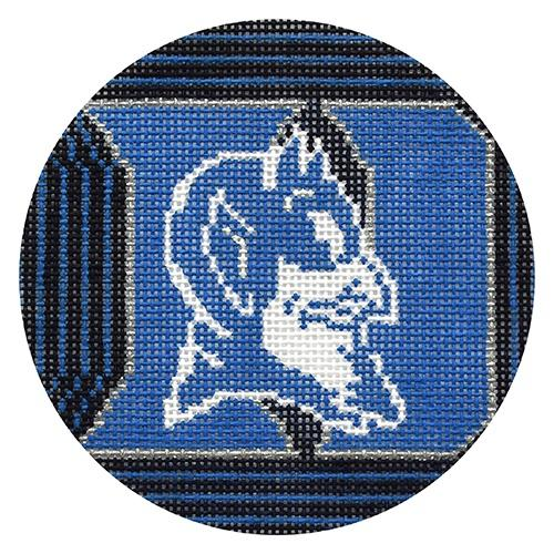 Duke University Logo Ornament Painted Canvas CBK Needlepoint Collections