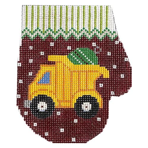 Dump Truck Mitten Painted Canvas The Meredith Collection