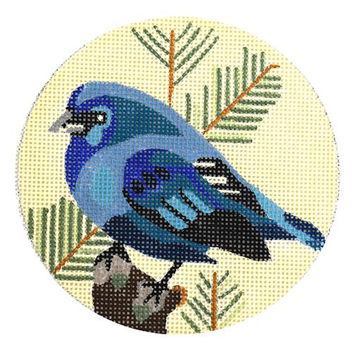 Eastern Blue Bunting Painted Canvas Melissa Prince Designs