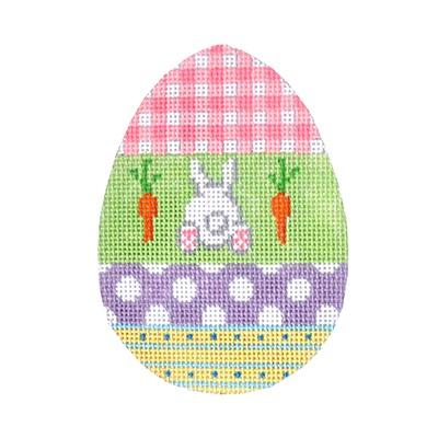 Eggceptionally Gingham Painted Canvas Kirk & Bradley