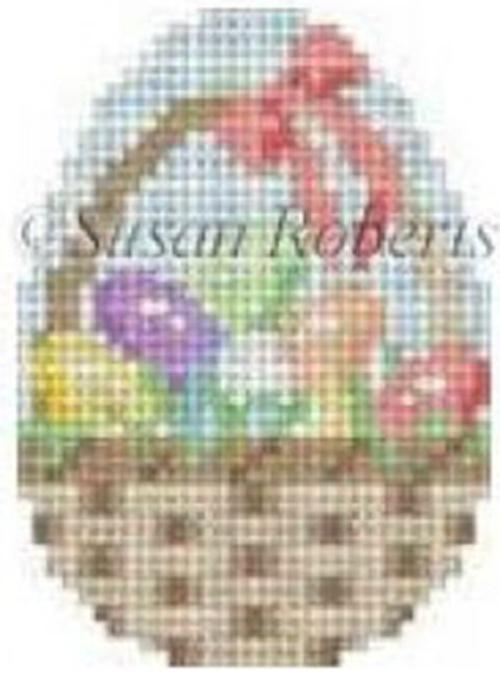 Eggs in a Basket Painted Canvas Susan Roberts Needlepoint Designs, Inc.