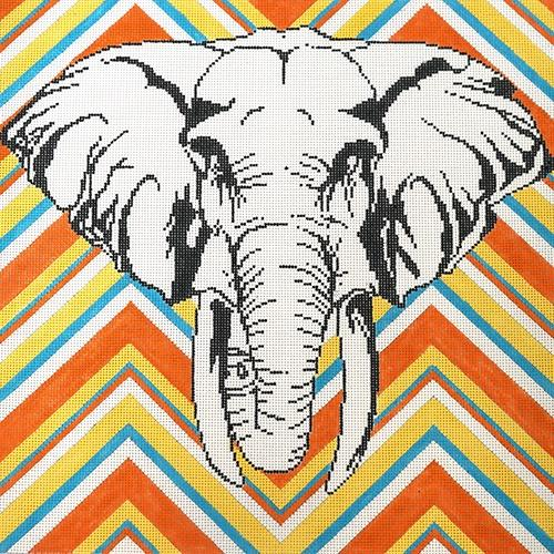 Elephant Painted Canvas The Meredith Collection