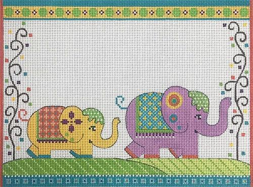 Elephant Parade Birth Announcement Painted Canvas Alice Peterson