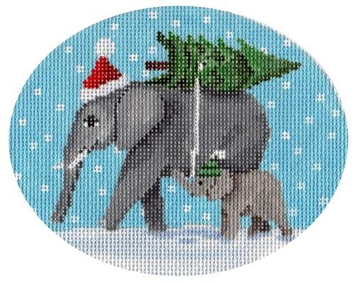 Elephants Bringing Home the Tree Painted Canvas Scott Church Creative