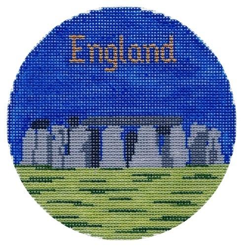 England Ornament Painted Canvas Silver Needle