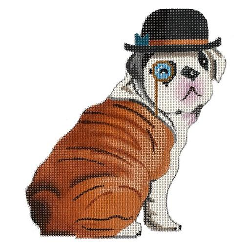 English Bulldog Gentleman Painted Canvas Colors of Praise