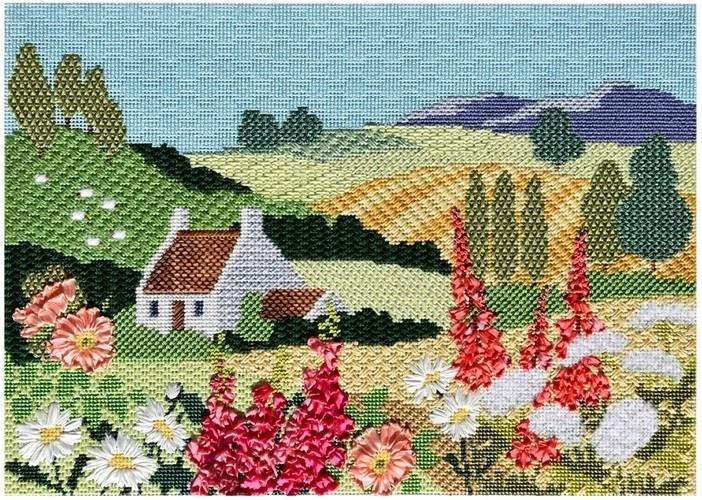 English Country Landscape Kit KB Kits Needlepoint.Com