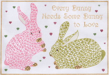 Every Bunny Needs Needlepoint Kit Painted Canvas Kate Dickerson Needlepoint Collections