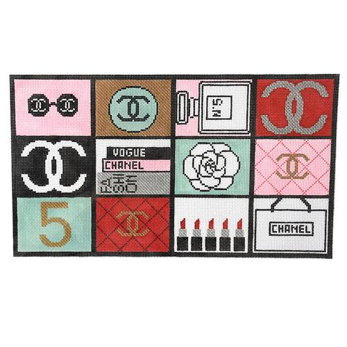 Everything Chanel Painted Canvas Kimberly Ann Needlepoint