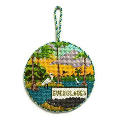 Explore America - Everglades with Stitch Guide Painted Canvas Burnett & Bradley