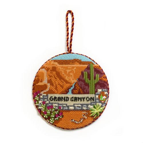 Explore America - Grand Canyon with Stitch Guide Painted Canvas Burnett & Bradley