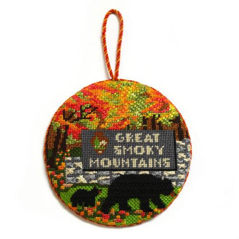 Explore America - Great Smoky Mountains with Stitch Guide Painted Canvas Burnett & Bradley