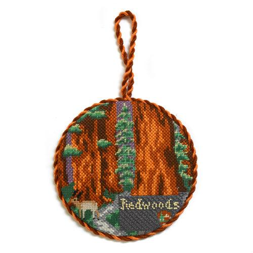 Explore America - Redwoods with Stitch Guide Painted Canvas Burnett & Bradley