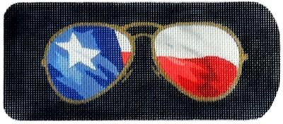 Eyeglass Case Texas Ray-Bans Painted Canvas Kirk & Bradley