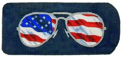 Eyeglasses Case Flag Ray-Bans Painted Canvas Kirk & Bradley