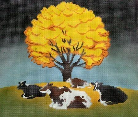 Fall Afternoon Painted Canvas Cooper Oaks Design