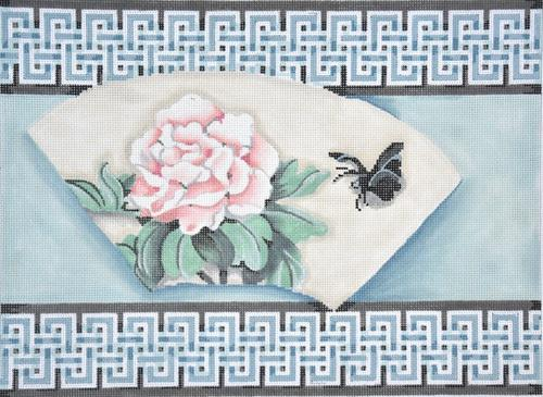 Fan / Peony Double Key Border Painted Canvas Associated Talents