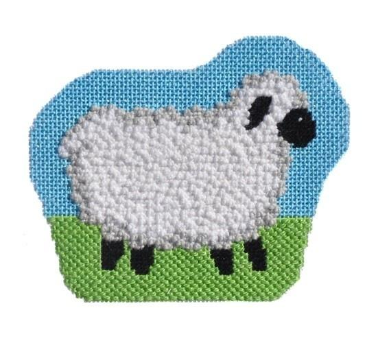 Farm Friends - Sheep with Stitch Guide Painted Canvas Needlepoint.Com