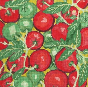 Farmer's Market Tomatoes 2 Painted Canvas Jean Smith