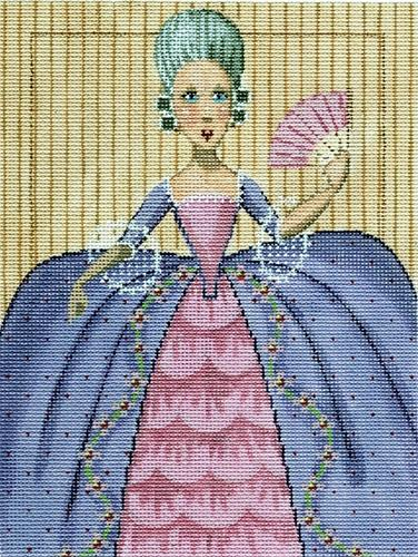 Fashion Plate - Rococo Painted Canvas Labors of Love Needlepoint