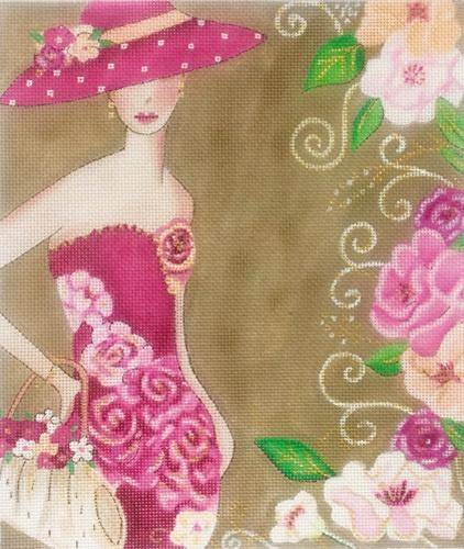 Fashion Woman in Pink Painted Canvas Alice Peterson Company