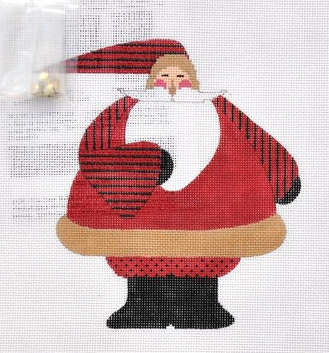 Fat Santa with Stitch Guide Painted Canvas The Artists Collection
