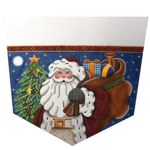 Father Christmas Painted Canvas Rebecca Wood Designs