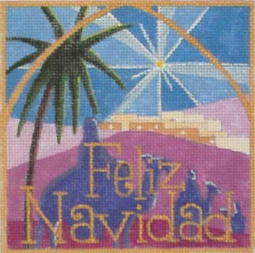 Feliz Navidad Painted Canvas Raymond Crawford Designs