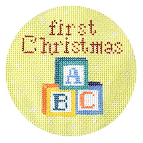 First Christmas Blocks Painted Canvas The Meredith Collection