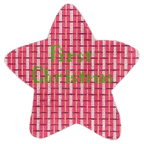 First Christmas Star - Pink Painted Canvas The Meredith Collection