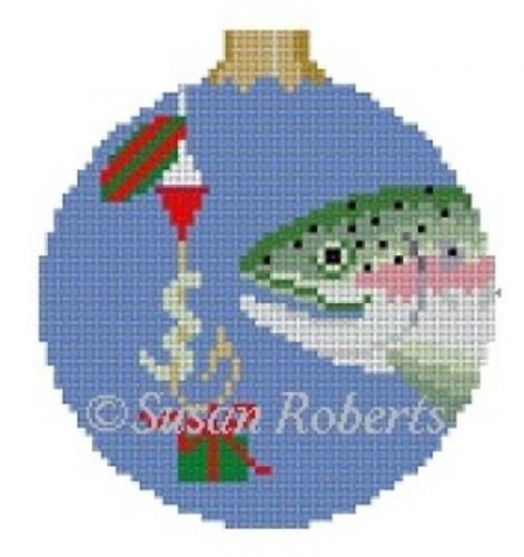 Fish Gift Ornament Painted Canvas Susan Roberts Needlepoint Designs, Inc.