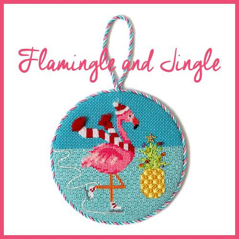 Flamingle and Jingle Online Class Online Course Needlepoint.Com