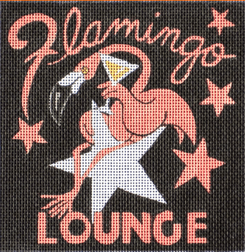 Flamingo Bar Painted Canvas Maggie Co.